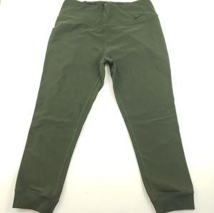 Nike womens army green and black capri pants large